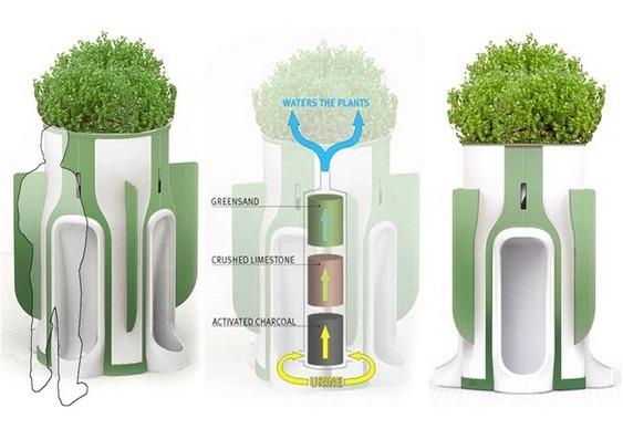 Mictório ecológico recicla urina
