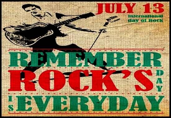 Dia Internacional do Rock - 13 de julho