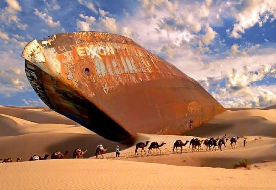 Navio no deserto