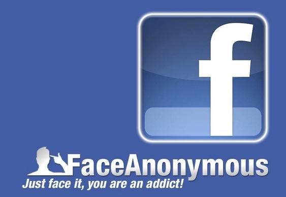 Logo FaceAnonymous - Facebook