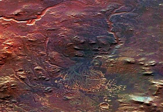 Rios e lagos marcianos