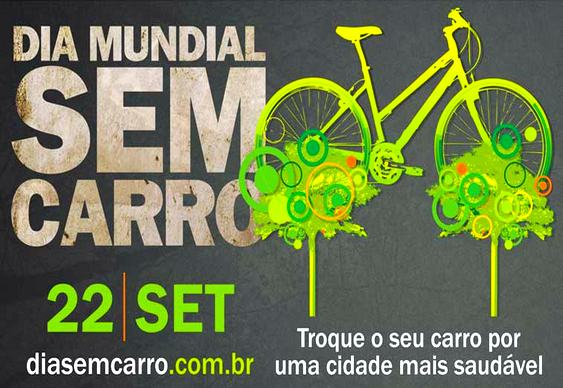 Cartaz do dia Mundial Sem Carro