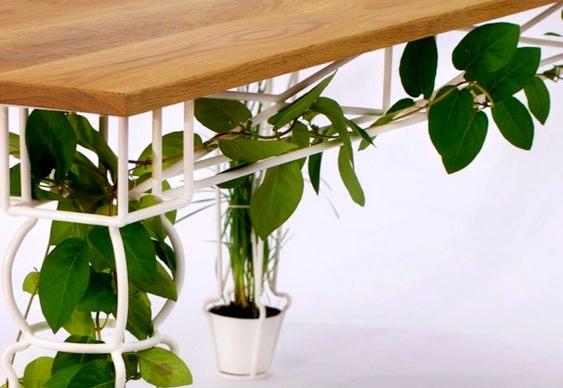 Mesa de ferro para jardim
