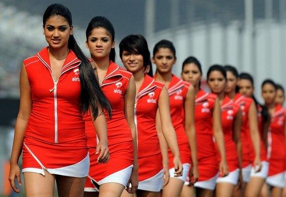 Grid Girls Fórmula Um Índia 2011