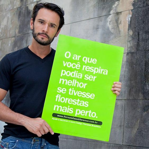 Artistas em campanha pelo meio ambiente