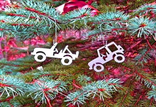 Jipes - enfeites árvores de Natal