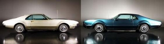 Reforma pela metade de automóvel antigo