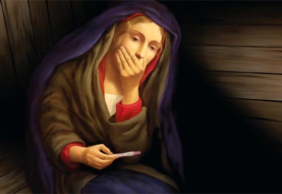 Maria mãe de Jesus - teste de gravidez