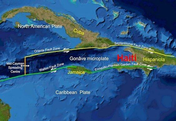 Risco terremotos no Caribe