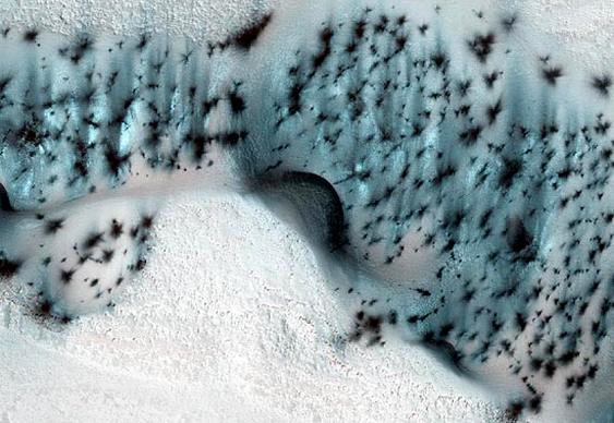 Cavernas na superfície marciana