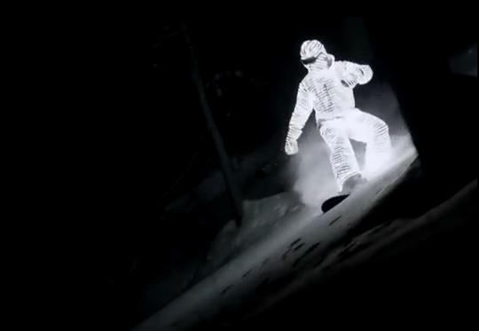 Esquiador de LED