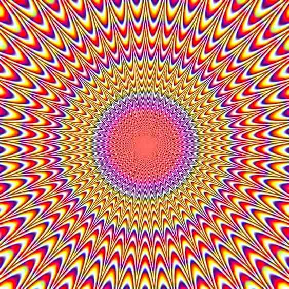Ilusão de ótica mexendo