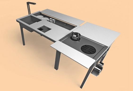 Kit pia, mesa e fogão