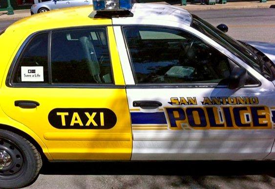 Viatura policial - táxi