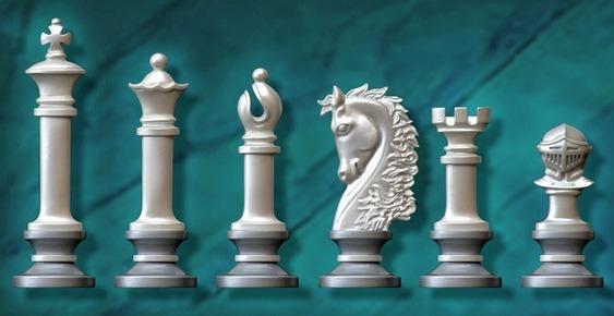 Peças perolizadas para Xadrez