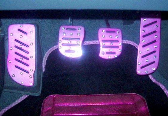 Pedaleiras pink tuning