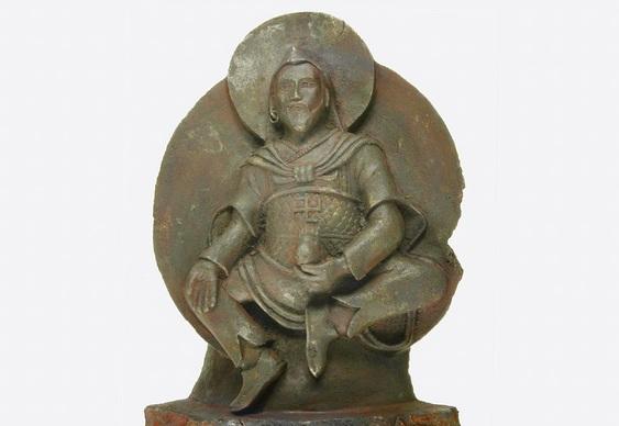 Meteorito com deus Vaisravana
