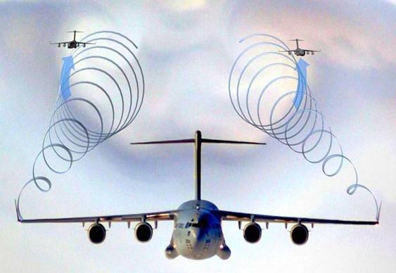 Voo de aviões em formação como os pássaros
