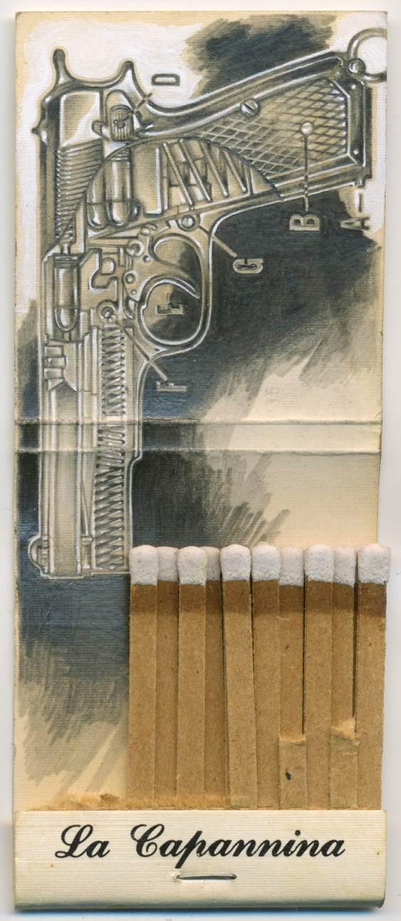 Arte em caixinhas de fósforos
