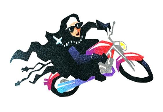 Backflip de motocicleta