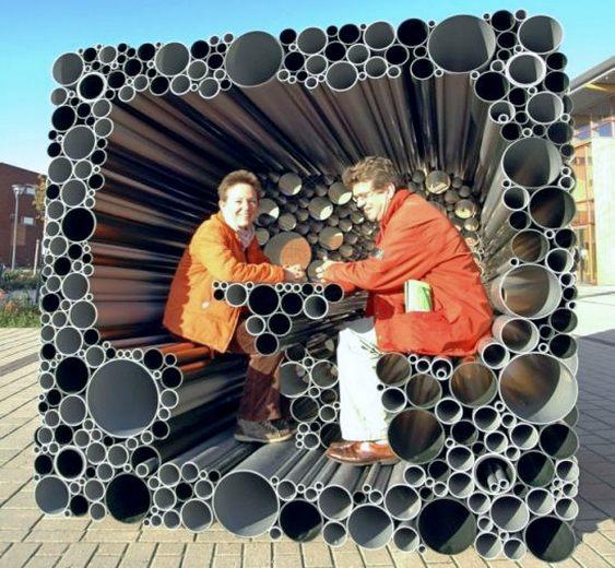 Residência com canos de PVC