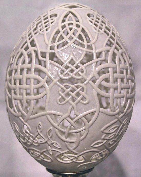 Filigranas em cascas de ovos