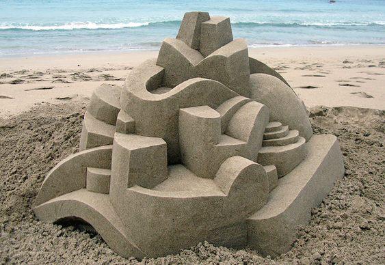 Obra de arte na praia