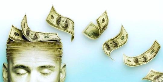 Dinheiro com felicidade