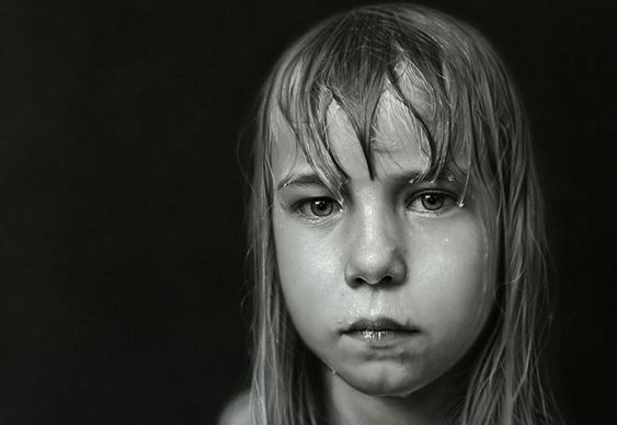 Retrato feito com lápis