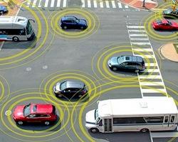 Carros interligados por GPS