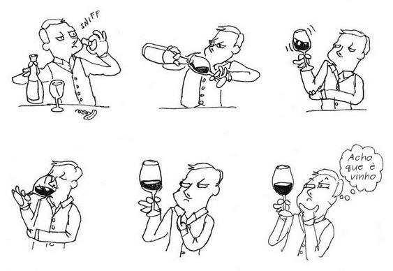 Degustação de Vinhos - Humor