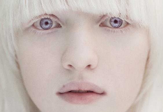 Modelo russa albina
