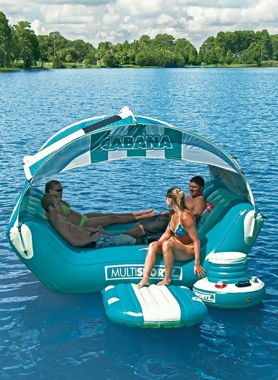 Cabana de camping inflável flutuante