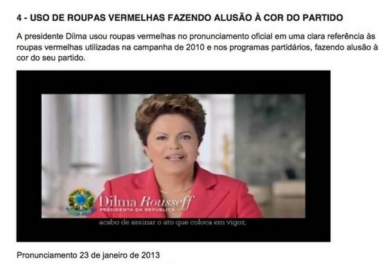 PSDB reclama da roupa da Presidente