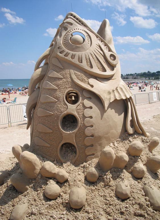 Caiu na areia é peixe