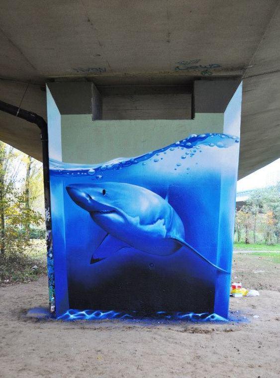 Grafite em viaduto
