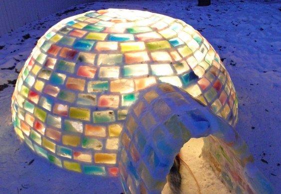 Tijolos de gelo coloridos