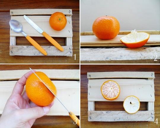 Vela com casca de tangerina