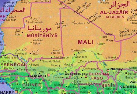 Mapa África Mali