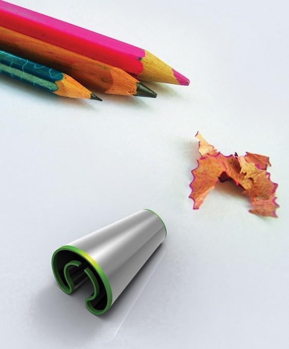 Apontador de lápis para canhotos