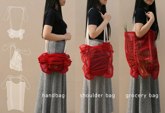 Design bolsa de nylon franzida