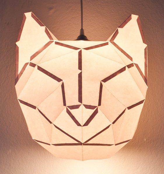 Luminária em forma de gato
