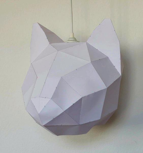 Abajur em forma de gato