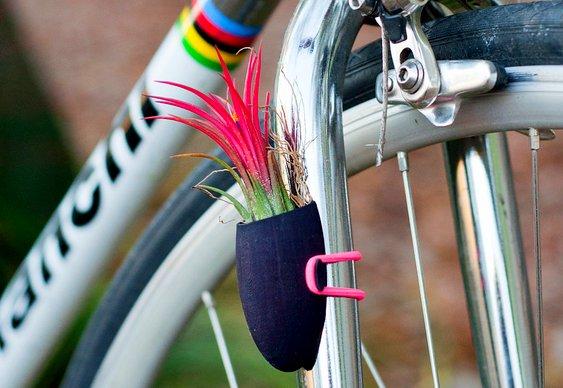 Vasos de plantas para bikes