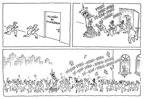 Charge sobre Carnaval