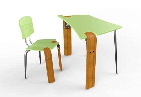 Design de mesa escolar
