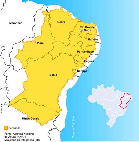 Mapa do Semiárido