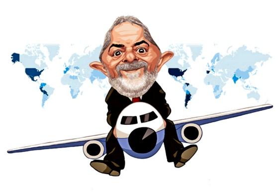 Lula viajando