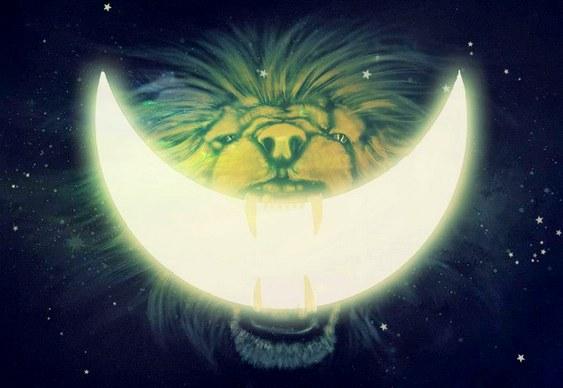 Leão mordendo a Lua