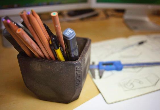 Porta-canetas reciclado